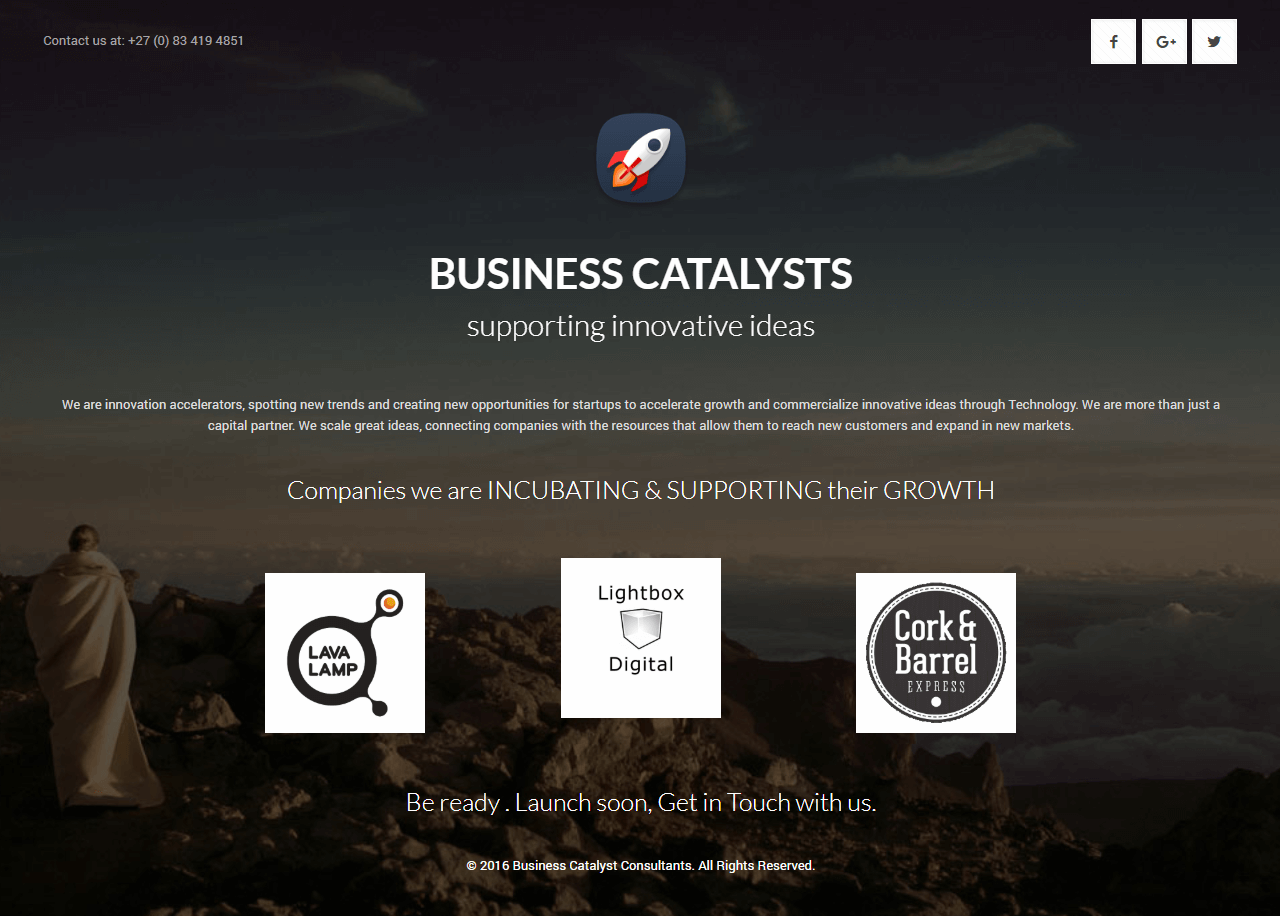 business catalysts consulting website