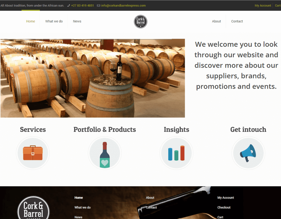 cork and barrel express website