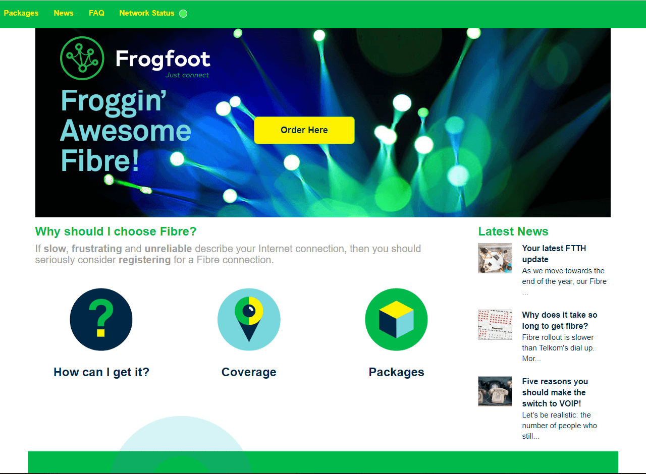 frog foot networks website