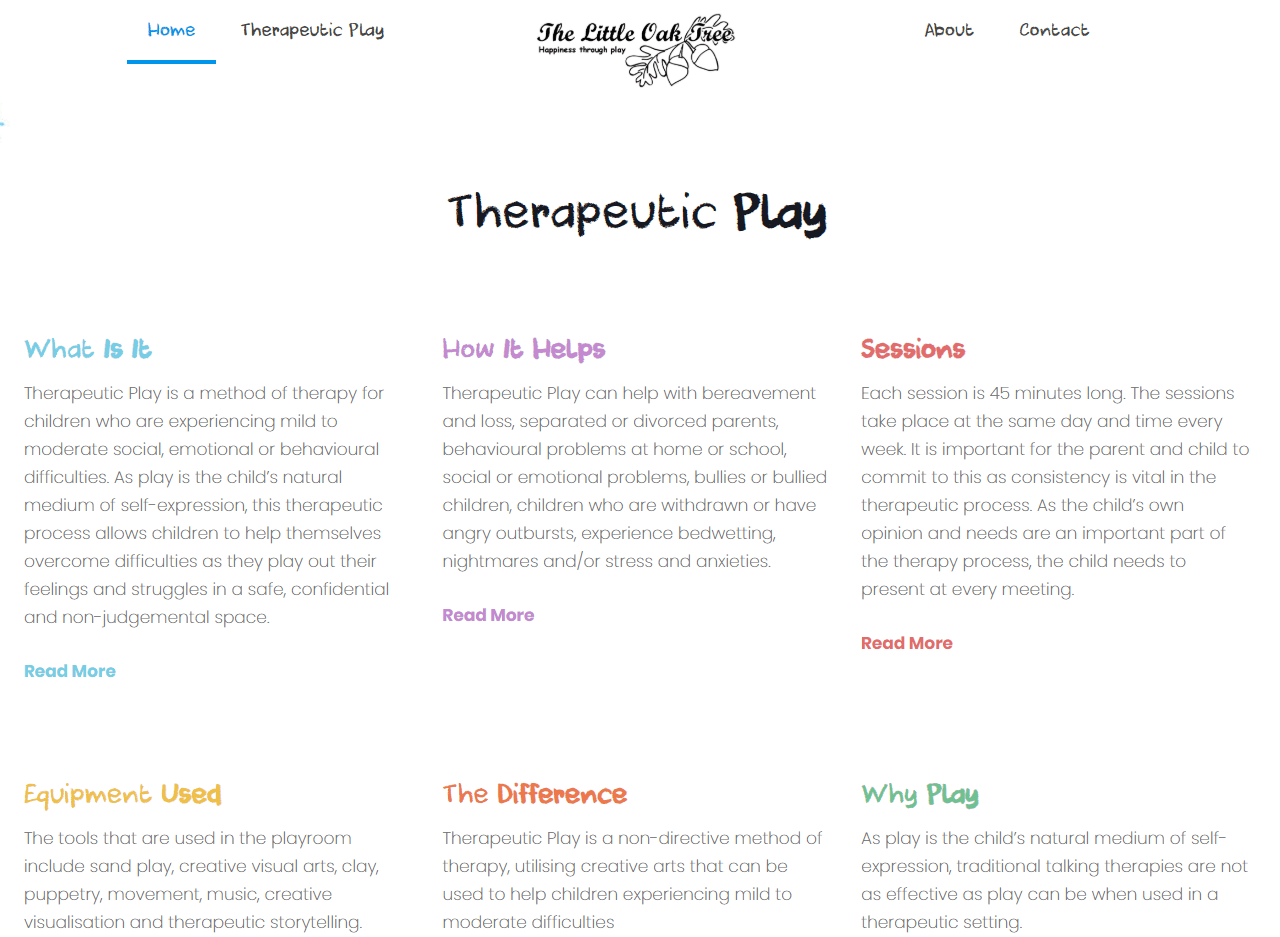 therepeutic play website