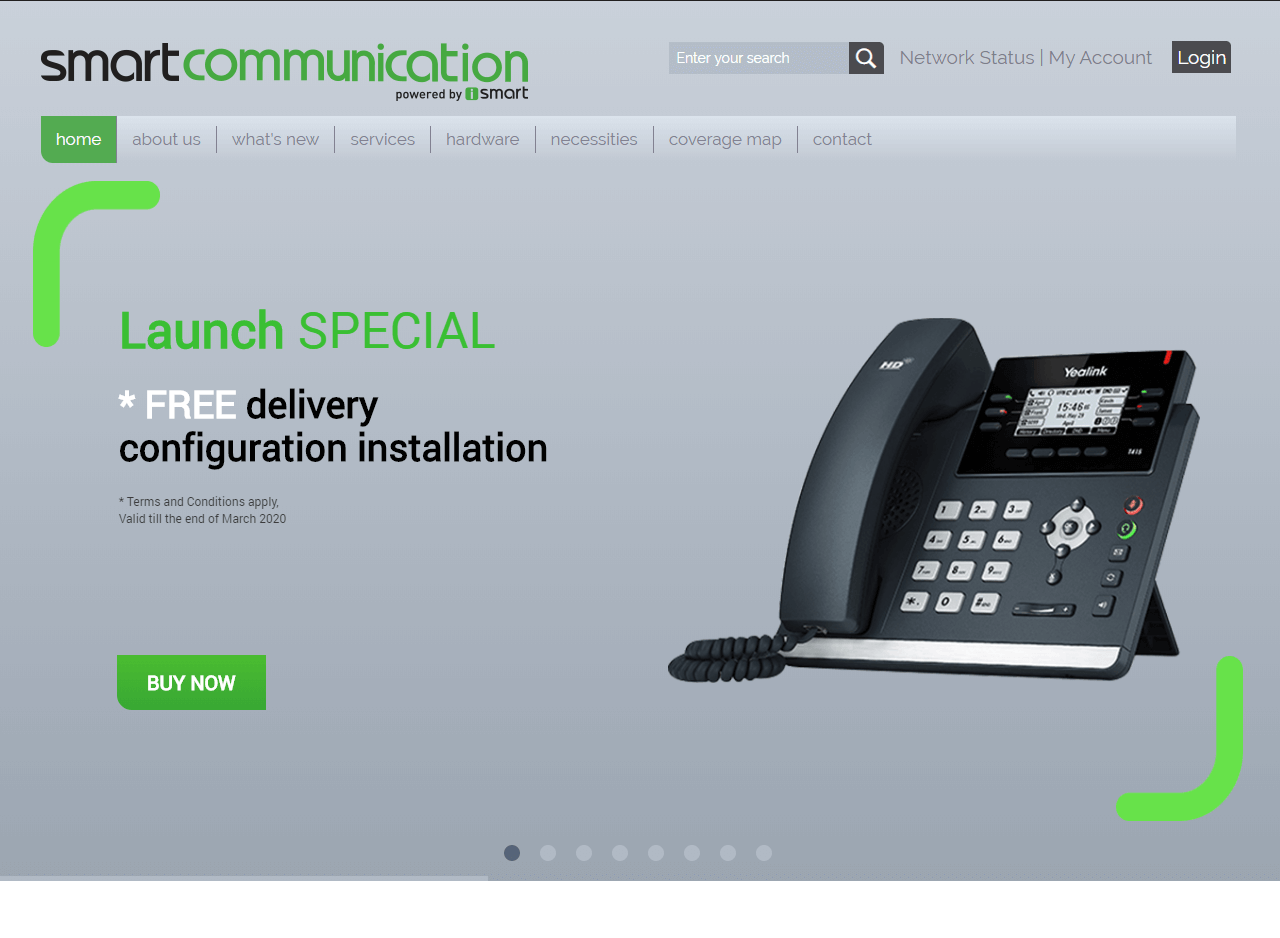 Smart Communication website