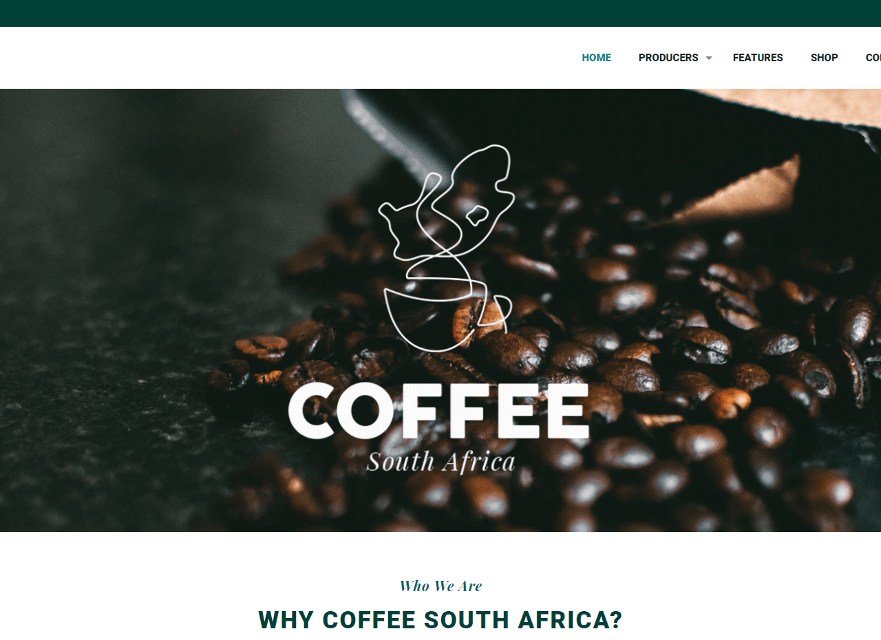 coffee south africa website